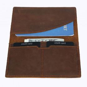 BUBM Dompet Kartu Anti RFID Slim Bahan Kulit - FM-103 - Brown - 2