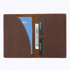 BUBM Dompet Kartu Anti RFID Slim Bahan Kulit - FM-103 - Brown - 3