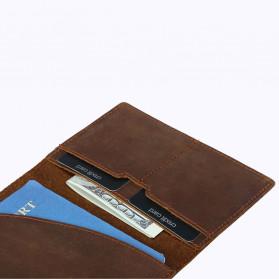 BUBM Dompet Kartu Anti RFID Slim Bahan Kulit - FM-103 - Brown - 4