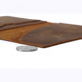 BUBM Dompet Kartu Anti RFID Slim Bahan Kulit - FM-103 - Brown - 7