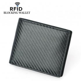 BUBM Dompet Kartu Anti RFID Bahan Kulit - TQ-302 - Black