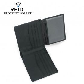 BUBM Dompet Kartu Anti RFID Bahan Kulit - TQ-302 - Black - 2