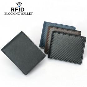 BUBM Dompet Kartu Anti RFID Bahan Kulit - TQ-302 - Black - 3