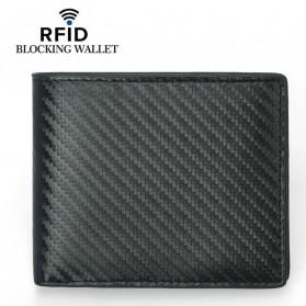 BUBM Dompet Kartu Anti RFID Bahan Kulit - TQ-302 - Black - 4