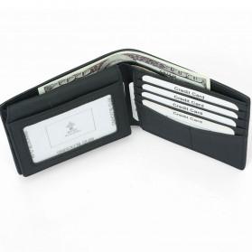 BUBM Dompet Kartu Anti RFID Bahan Kulit - TQ-302 - Black - 5