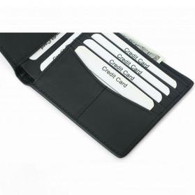 BUBM Dompet Kartu Anti RFID Bahan Kulit - TQ-302 - Black - 6