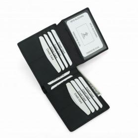 BUBM Dompet Kartu Anti RFID Bahan Kulit - TQ-302 - Black - 7