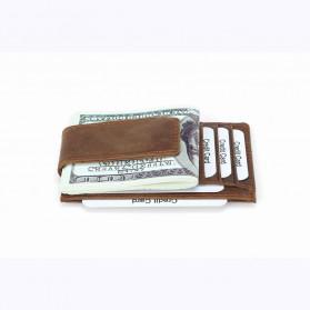 BUBM Dompet Kartu Anti RFID Bahan Kulit - FM-104 - Brown - 6