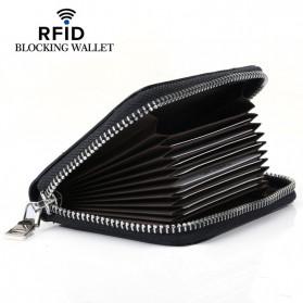 BUBM Dompet Kartu Anti RFID Bahan Kulit - YP-207 - Black
