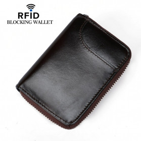 BUBM Dompet Kartu Anti RFID Bahan Kulit - YP-207 - Black - 2