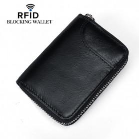 BUBM Dompet Kartu Anti RFID Bahan Kulit - YP-207 - Black - 3