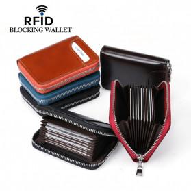 BUBM Dompet Kartu Anti RFID Bahan Kulit - YP-207 - Black - 4