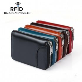 BUBM Dompet Kartu Anti RFID Bahan Kulit - YP-207 - Black - 5