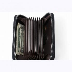 BUBM Dompet Kartu Anti RFID Bahan Kulit - YP-207 - Black - 6