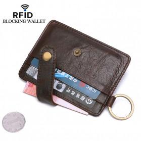 BUBM Dompet Kartu Anti RFID Bahan Kulit - D3022 - Black - 3