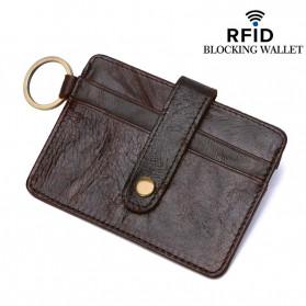 BUBM Dompet Kartu Anti RFID Bahan Kulit - D3022 - Black - 4