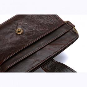 BUBM Dompet Kartu Anti RFID Bahan Kulit - D3022 - Black - 6