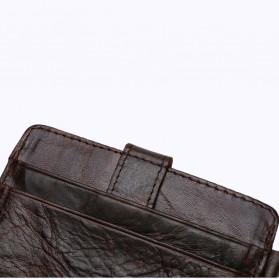 BUBM Dompet Kartu Anti RFID Bahan Kulit - D3022 - Black - 8