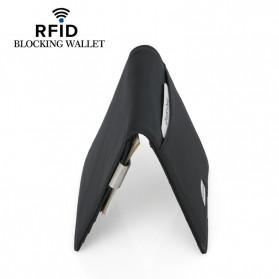 BUBM Dompet Kartu Anti RFID Slim Bahan Kulit - YP-215 - Black