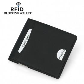 BUBM Dompet Kartu Anti RFID Slim Bahan Kulit - YP-215 - Black - 4