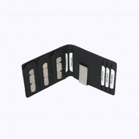 BUBM Dompet Kartu Anti RFID Slim Bahan Kulit - YP-215 - Black - 5