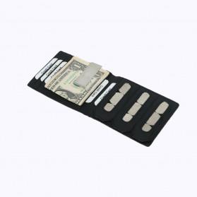 BUBM Dompet Kartu Anti RFID Slim Bahan Kulit - YP-215 - Black - 6