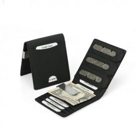 BUBM Dompet Kartu Anti RFID Slim Bahan Kulit - YP-215 - Black - 7