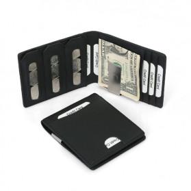 BUBM Dompet Kartu Anti RFID Slim Bahan Kulit - YP-215 - Black - 8