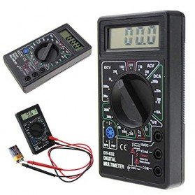 Pocket Size Digital Multimeter - DT832 - Black