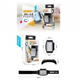 Jakemy JM-X4 Permanent Magnetic Wristband Bracelet Adsorption Tools for Small Parts - Black - 2