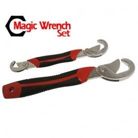 JINGDA Multifunction Magic Wrench / Kunci Pas - JJ89381 - Black/Red - 2