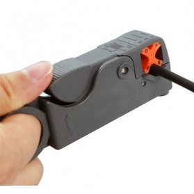 Rotary Coaxial Cable Stripper Cutter - RG58 - Gray - 3