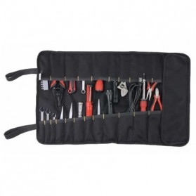 Customized Leather Craft 32 Socket Tool Roll Bag / Tas Perlengkapan - VMW1 - Blue