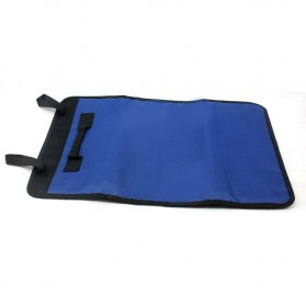 Customized Leather Craft 32 Socket Tool Roll Bag / Tas Perlengkapan - VMW1 - Blue - 4
