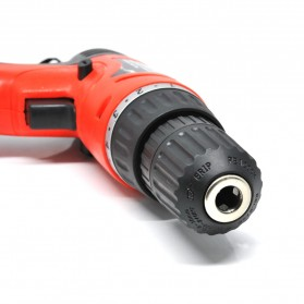 Cordless Rechargeable Electric Drill - DC-D010 / Bor Listrik - Red - 3