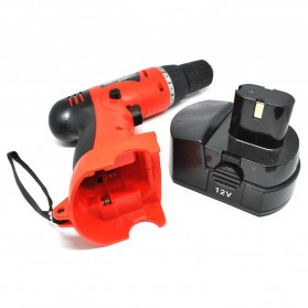 Cordless Rechargeable Electric Drill - DC-D010 / Bor Listrik - Red - 4