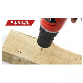 Cordless Rechargeable Electric Drill - DC-D010 / Bor Listrik - Red - 7