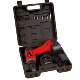 Cordless Rechargeable Electric Drill - DC-D010 / Bor Listrik - Red - 9