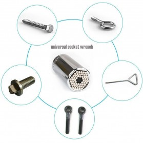 Kepala Kunci Pas Gator Grip Universal Socket - ETC-120 (Bolt Only) - Silver - 8