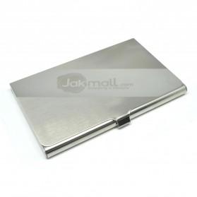 Kotak Kartu Nama Aluminium Model Jakmall.com - Silver
