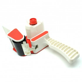 Dispenser Lakban Tape Gun With Handle - Red/White - 3