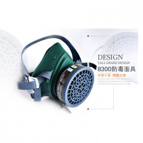 POWECOM Masker Gas Respirator - N8303 - Green - 2