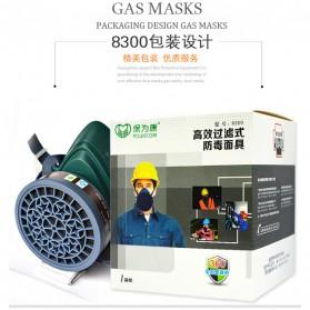 POWECOM Masker Gas Respirator - N8303 - Green - 9