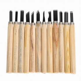TOOKIE Set Pisau Ukir Pahat Kayu 12 in 1 Wood Carving Art Knife - KSJ-12