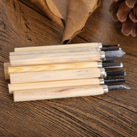 TOOKIE Set Pisau Ukir Pahat Kayu 12 in 1 Wood Carving Art Knife - KSJ-12 - 3