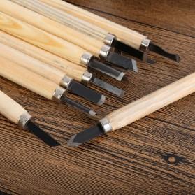 TOOKIE Set Pisau Ukir Pahat Kayu 12 in 1 Wood Carving Art Knife - KSJ-12 - 4
