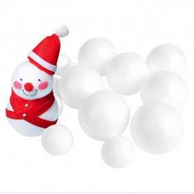 Polystyrene Styrofoam Ball Crafting Modelling 10PCS - White