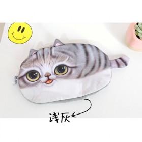 Tempat Pensil Model Kucing Lucu - Gray