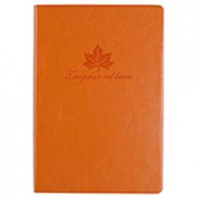 Buku Catatan Cover Kulit Kertas A5 - Orange