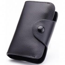Dulin Dompet Kartu Elegan Bahan Kulit - CL-3324 - Black